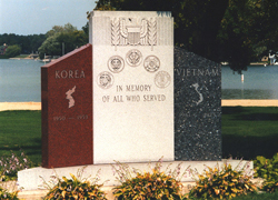 Korea/Vietnam memorial In Oconomowoc Wisconsin