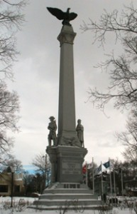 Civil War Monument in Watertown, WI